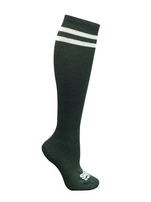 Hunter Green Striped Speechless Knee High Athletic Socks - The Sox Box