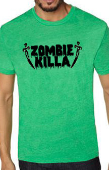Zombie Killa Green Men's Shirt