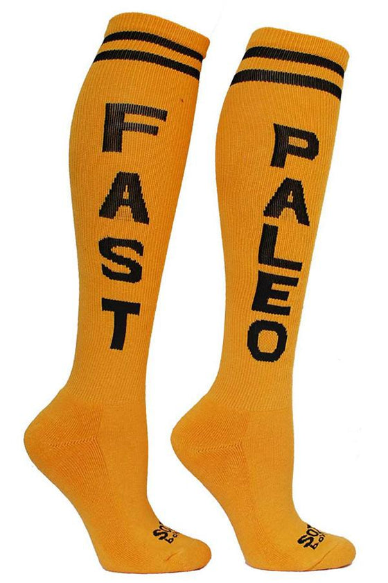 Fast Paleo Yellow Athletic Knee High Socks- The Sox Box