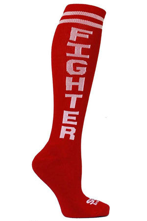 Fighter Red Athletic Knee High Socks- The Sox Box