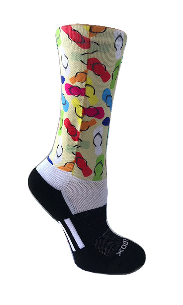 Flip Flops Novelty Crew Socks- The Sox Box