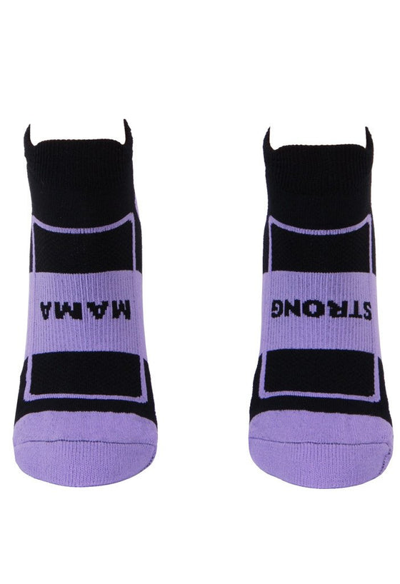 Strong Mama Women's Lavender Compression Footie Socks- The Sox Box
