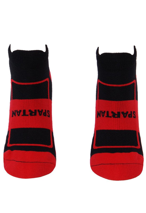 Spartan Compression Black Footie Socks- The Sox Box