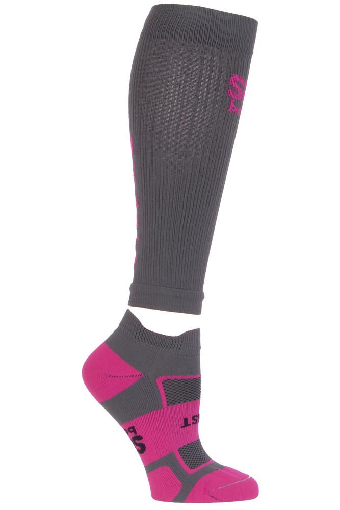 Beauty Beast Women's Grey Compression Sleeves Small- The Sox Box