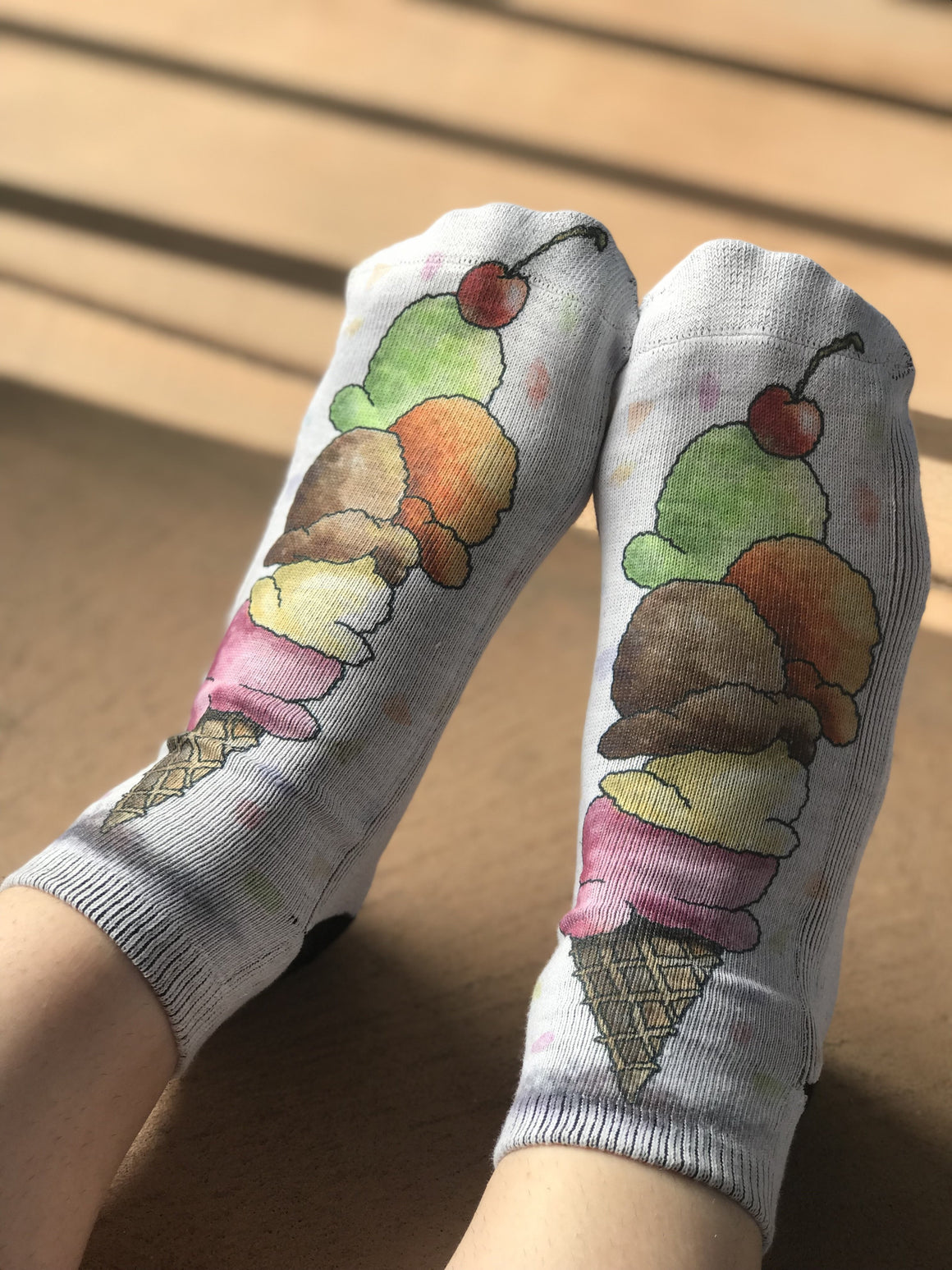 Ice Cream Fun Ankle Socks for Women - The Sox Box