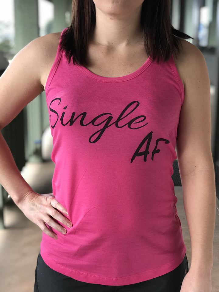 Single AF Racerback Fitness Tank - The Sox Box