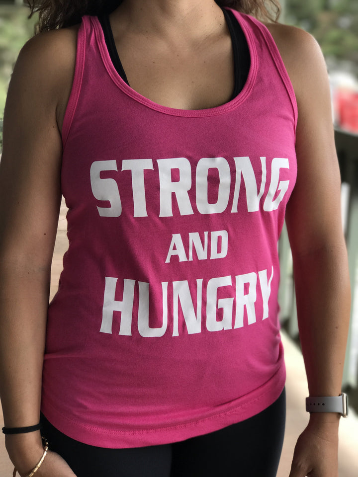 Strong and Hungry Women's Workout Racerback Tank- The Sox Box