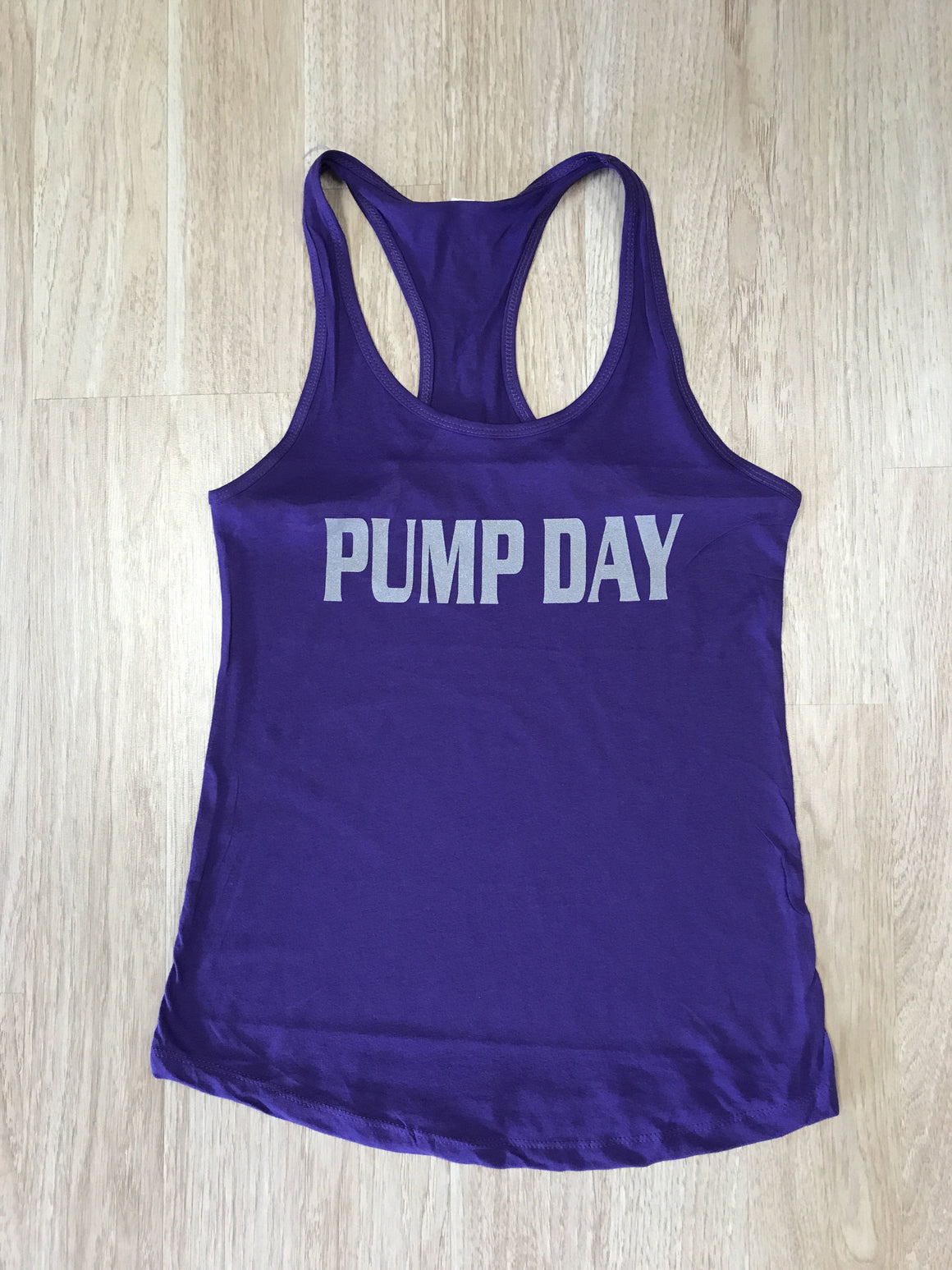 Pump Day Women's Workout Racerback Tank- The Sox Box