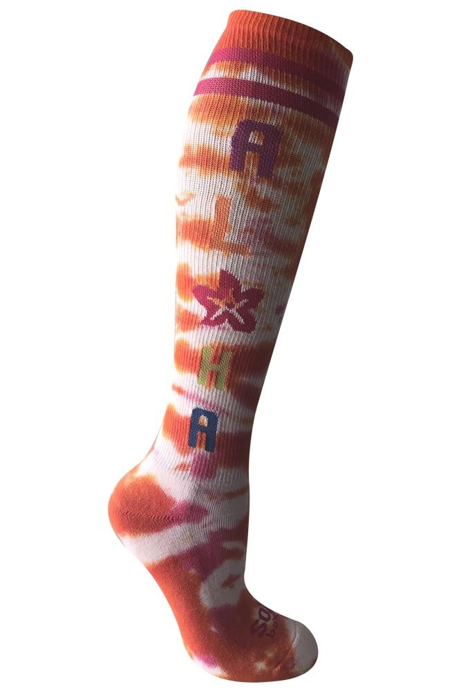 Aloha Tie Dye Women's Knee High Athletic Socks- The Sox Box