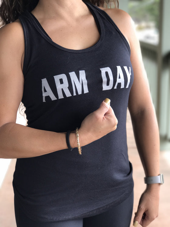 Arm Day Women's Workout Racerback Tank- The Sox Box