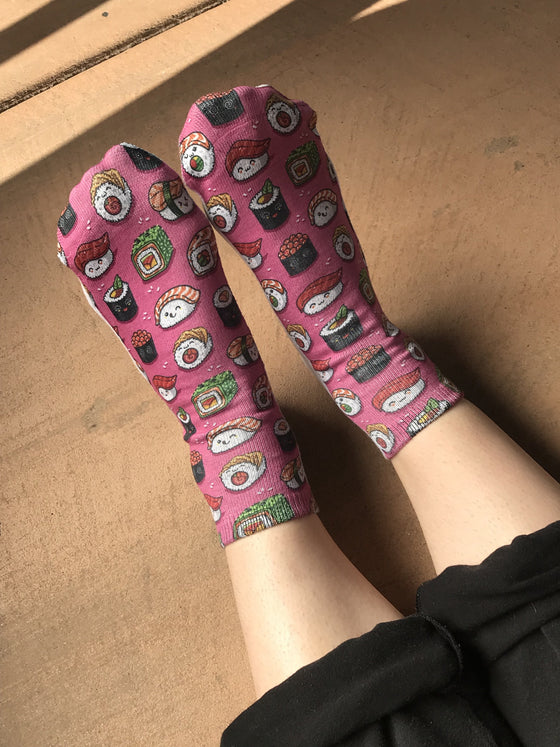 Sushi Crazy Novelty Ankle Socks for Women - The Sox Box