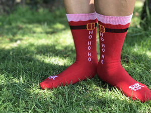 Ho Ho Ho Red Crew Socks- The Sox Box