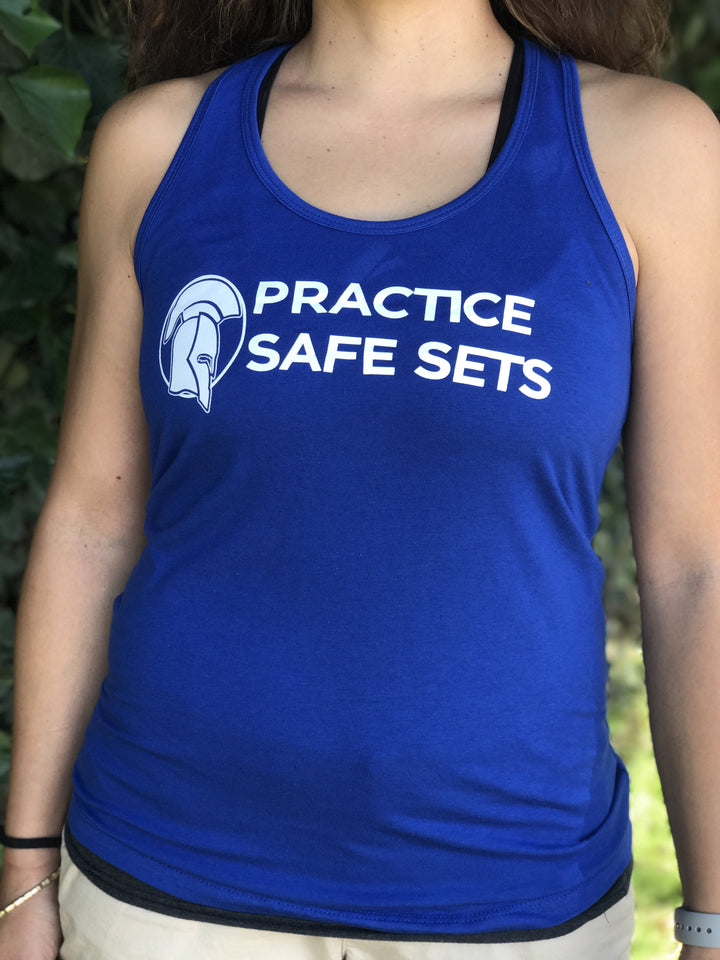 Practice Safe Sets Women's Workout Racerback Tank- The Sox Box