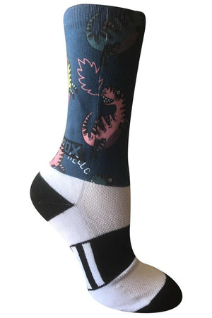 Dinosaur Jamboree Novelty Fun Athletic Socks- The Sox Box