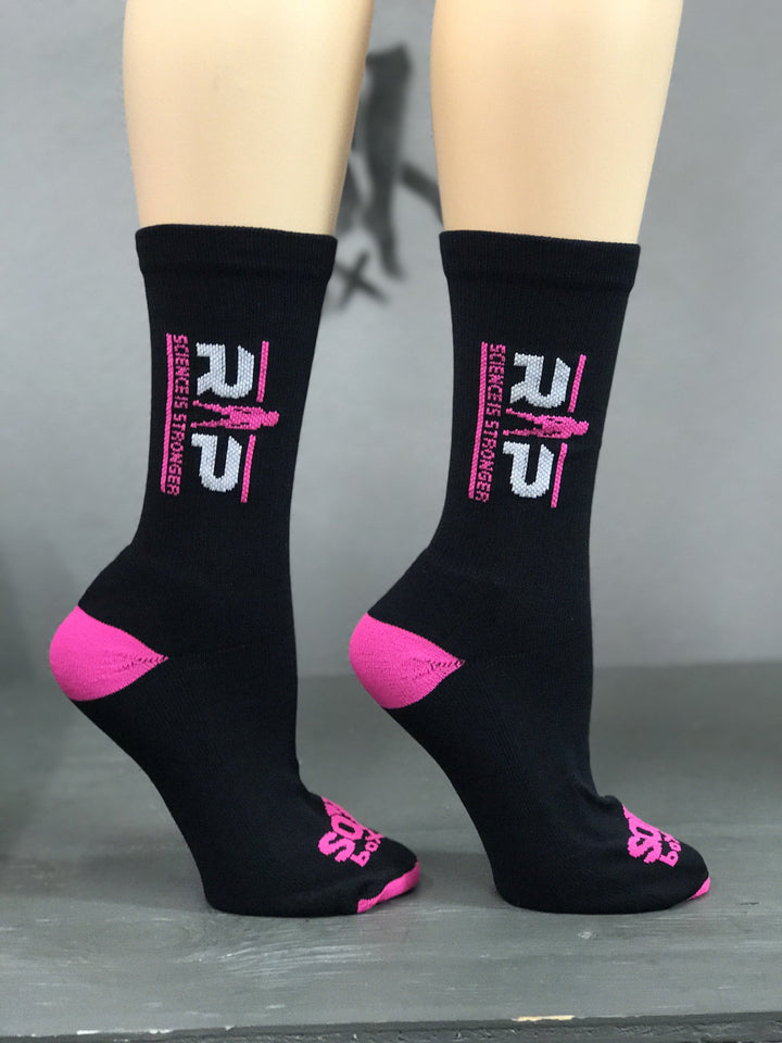 RP Strength Women's Black Performance Crew Socks- The Sox Box
