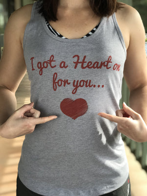 Got a Heart On Valentine's Racerback Tank - The Sox Box