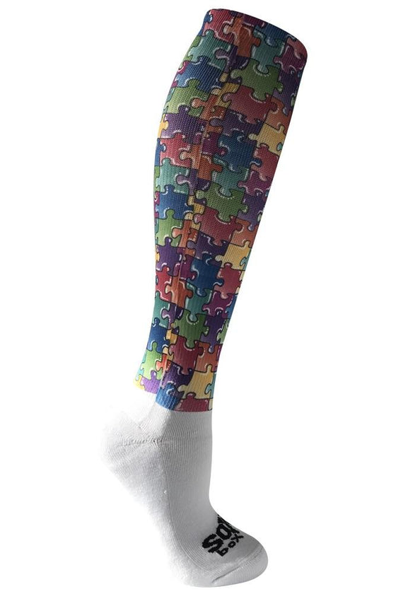 Puzzle Feet Feat Multi Color Novelty Socks- The Sox Box