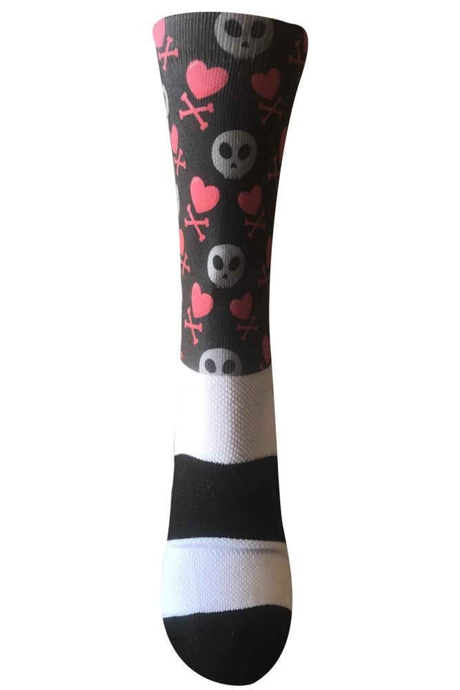 Never Ending Love Black Novelty Socks- The Sox Box