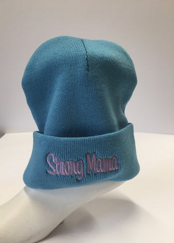 Strong Mama Beanie- Turquoise