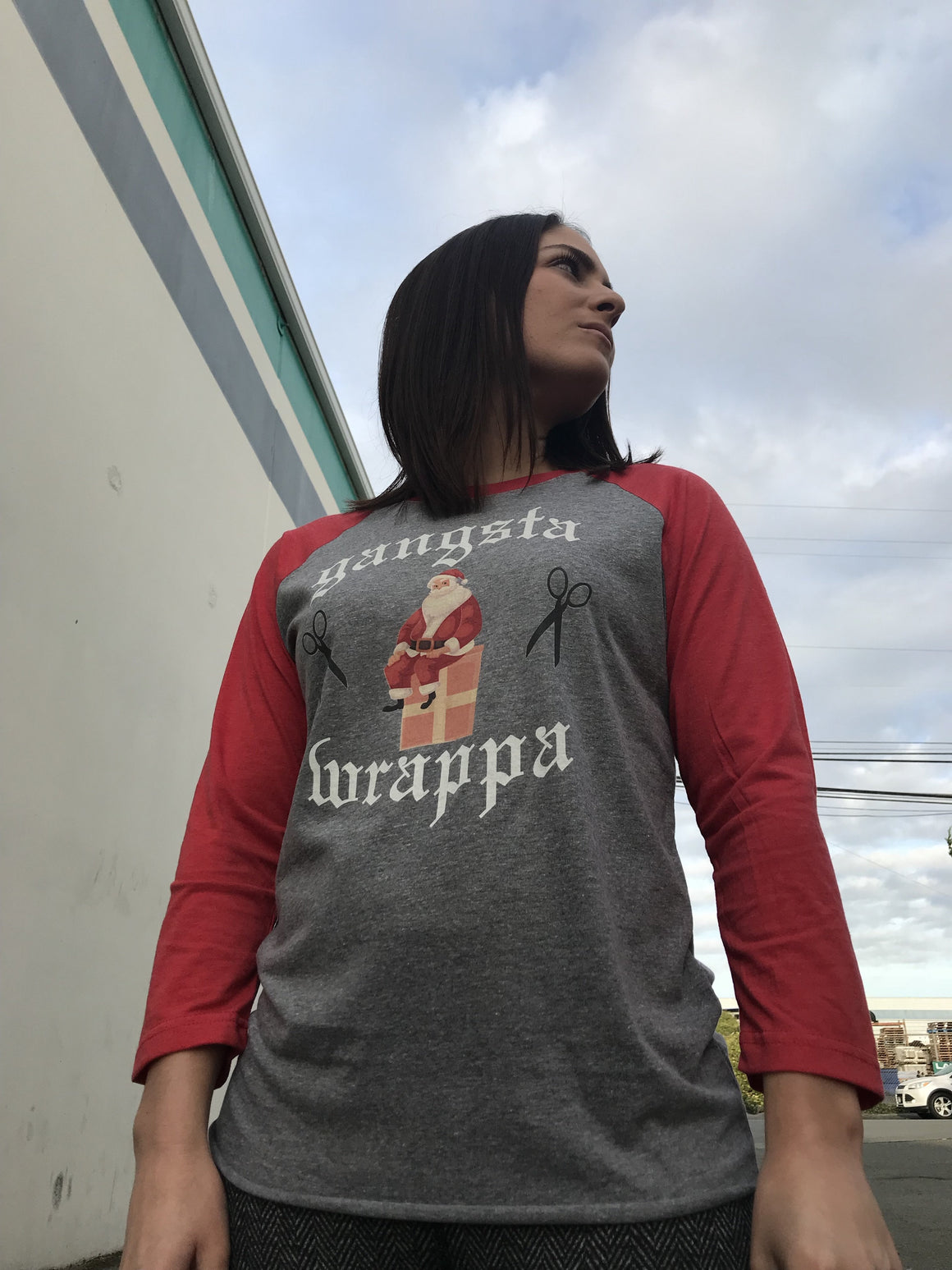 Gangsta Wrappa Red Triblend Baseball T-shirt- The Sox Box