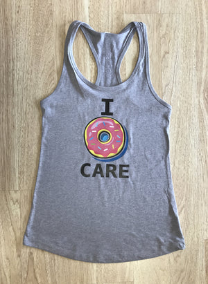 I Donut Care Women's Workout Racerback Tank- The Sox Box