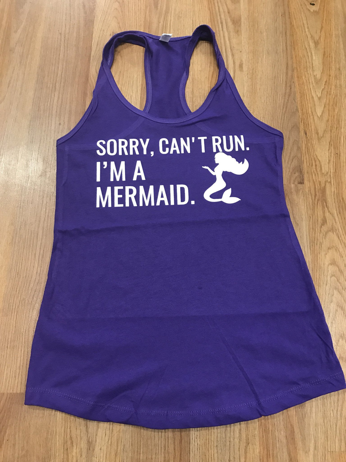 I'm a Mermaid Women's Workout Racerback Tank- The Sox Box
