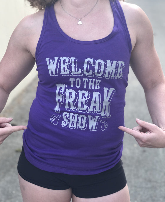Freak Show Women's Workout Racerback Tank- The Sox Box