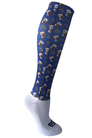Novelty Custom Big Head Dog Socks- The Sox Box