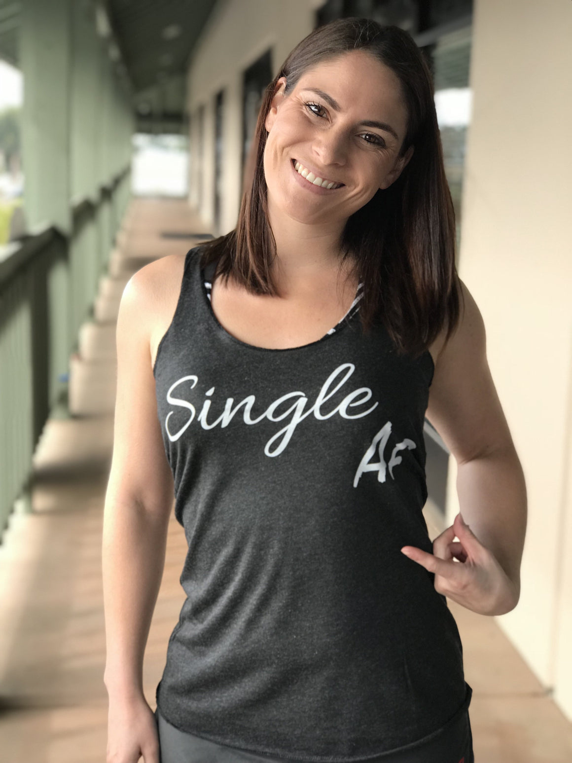Single AF Fitness Racerback Triblend Tank - The Sox Box