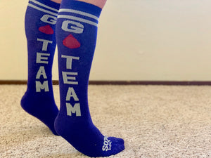 Go Team Purple Athletic Knee High Socks- The Sox Box