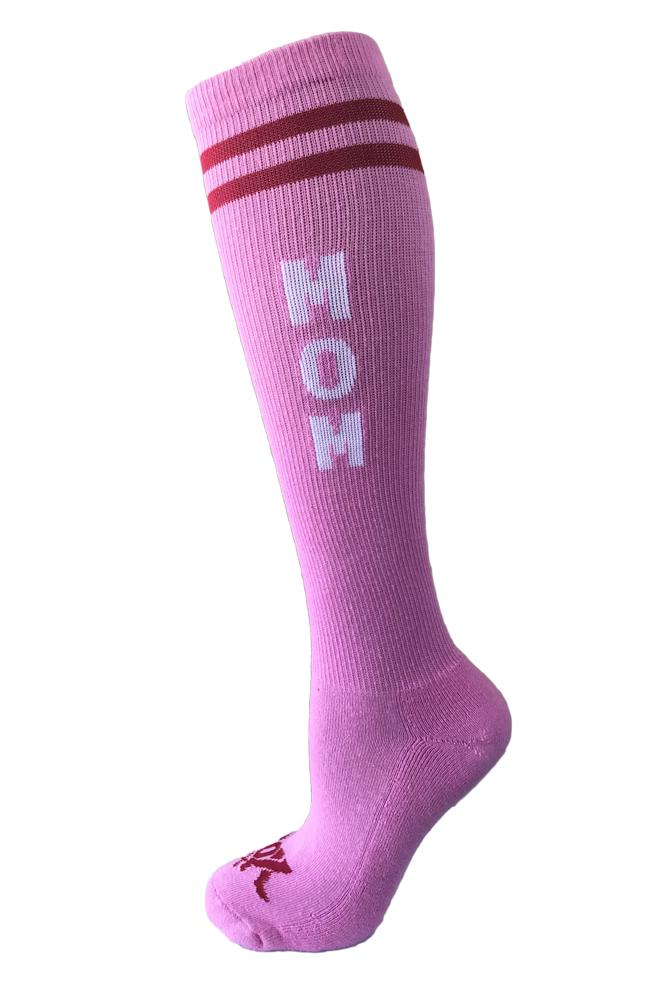 Mom Pink Athletic Knee High Socks - The Sox Box