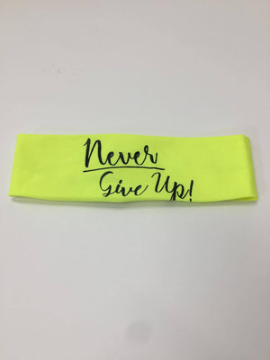 Never Give Up Headband- Yellow