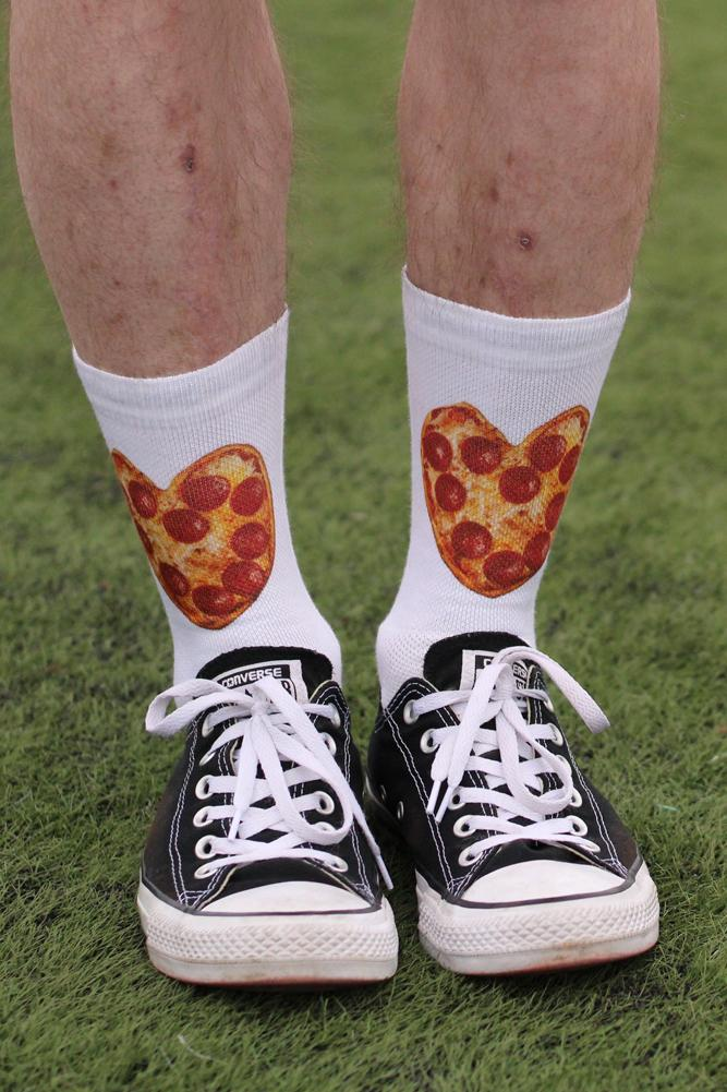 iHeart Pizza White Novelty Fun Socks- The Sox Box