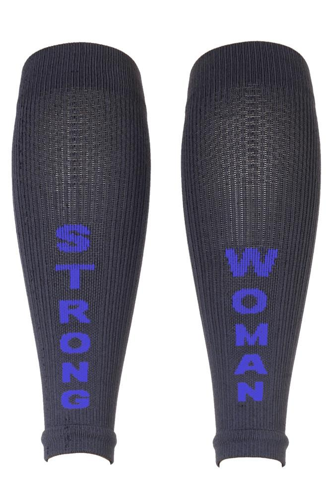 Strong Woman Grey Compression Sleeves- The Sox Box