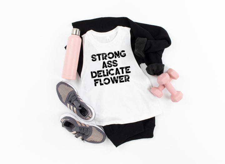 Strong Ass Delicate Flower Women's Crop Tank- The Sox Box