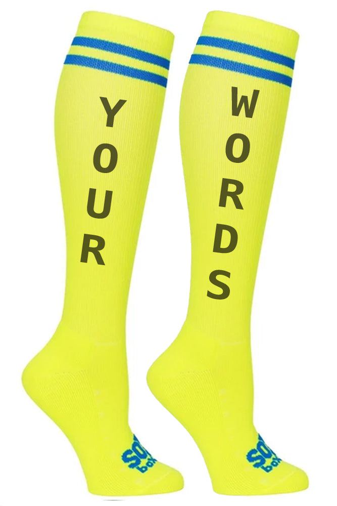 Custom Printed Athletic Knee High Socks- The Sox Box