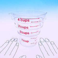 Four Step Measuring Cup