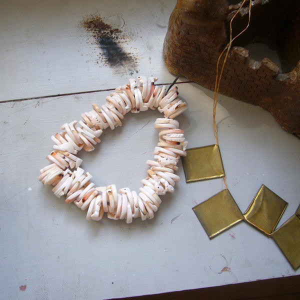 Three Carved Strombus Shell Rings