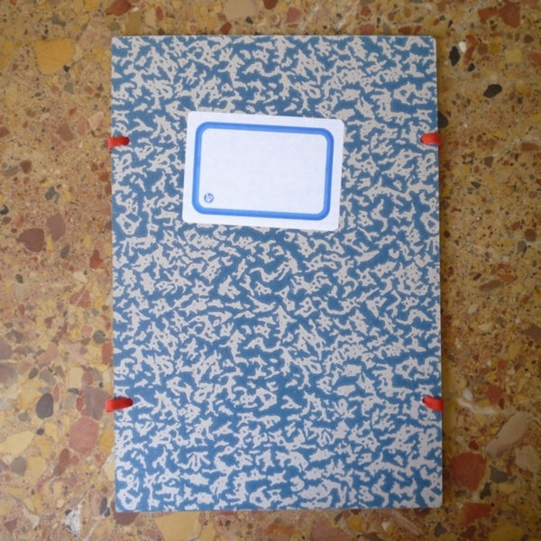 "Blue and Grey ""Notes Interessants"" Marbled Folder"