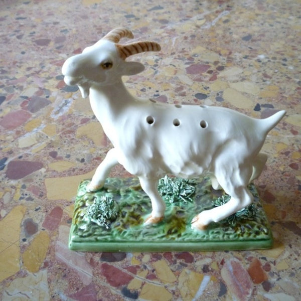 Bordallo Pinheiro Goat Toothpick Holder
