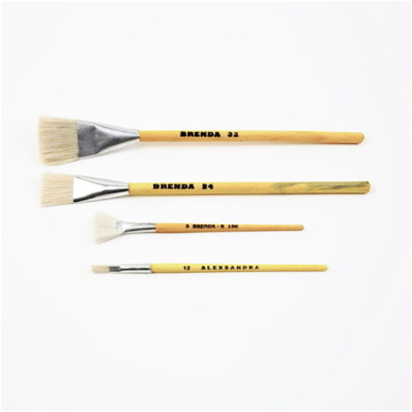 Set of 4 Yellow Paint Brushes