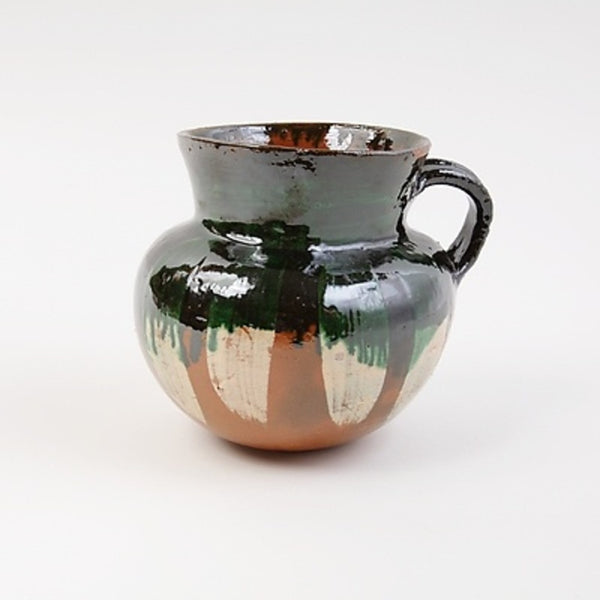Large Handpainted Green Cup