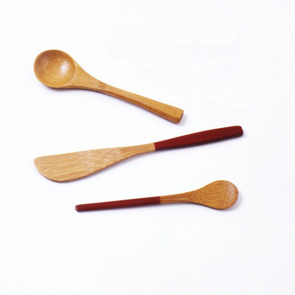 Set of Three Bamboo Kitchen Utensils