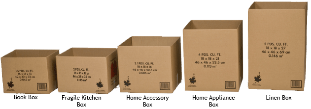Standard Cardboard Boxes The Moving StoreR Rent A BoxxR