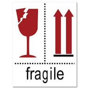 "Fragile label - 2""x3"""