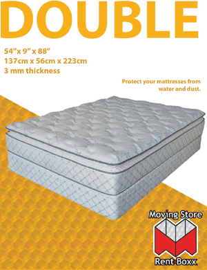 "Double Mattress Bag - 54"" x 9"" x 88"" - 3 mil"