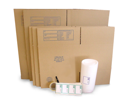 2-3 Bedroom House Moving Kit -65 Boxes & Packing Supplies
