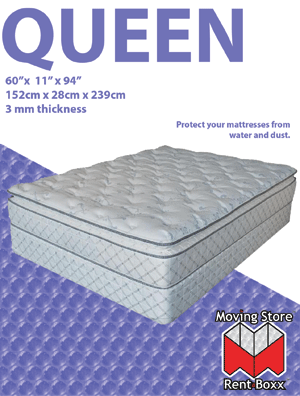 "Queen Mattress Bag -  61"" x 15"" x 90"" - 3 mils"