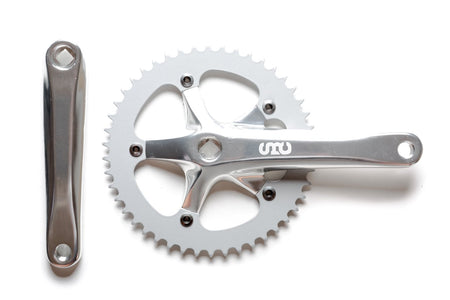 State Bicycle Co. - 'SBC' Fixed Gear / Single Speed Crankset (Black / Silver)