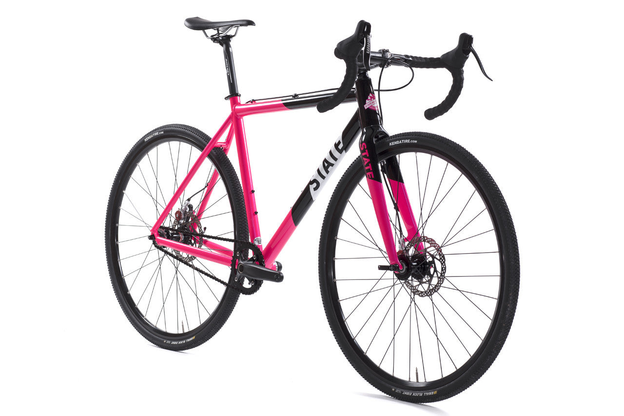 Thunderbird - Gravel / CycloCross Bike: Black & Pink | State Bicycle ...